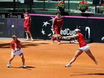 女子テニス、フェド杯2部降格も――。伊達不在の新チームが掴んだ手応え。<Number Web> photograph by Getty Images