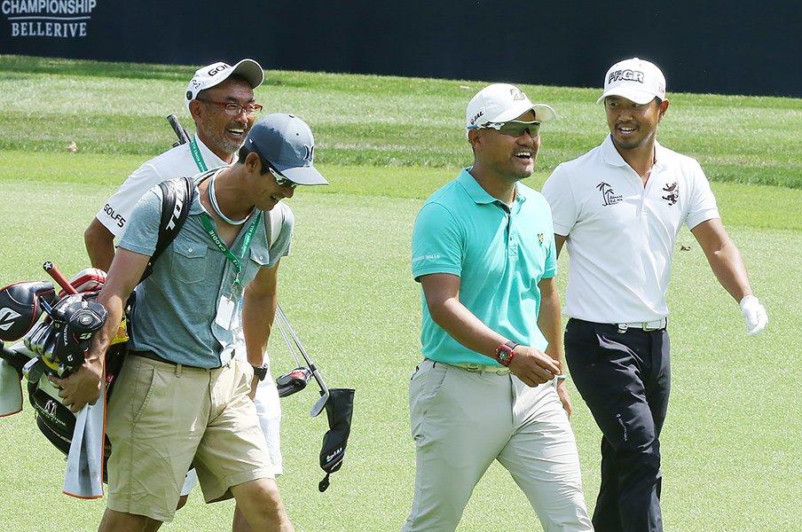 ゴルフは個人競技か、チーム競技か。選手間の情報共有が最強の練習法?<Number Web> photograph by Yoichi Katsuragawa