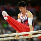 得意種目の平行棒を演技する田中和仁。~ロンドン五輪2012~