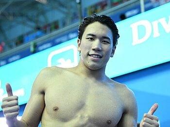 200m自由形で日本勢初の銀メダル。松元克央と伸び悩みを打破した名将。<Number Web> photograph by Hiroyuki Nakamura
