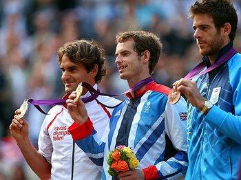 男子テニス決勝は、全英の再戦に。A・マリーが手にした金メダルの重み。<Number Web> photograph by Getty Images