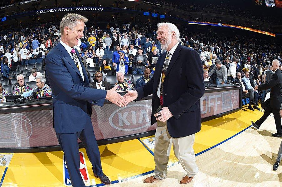 超スター軍団を1人の名将が撃破!NBA開幕戦で見たポポビッチの魔法。<Number Web> photograph by Andrew D. Bernstein/Getty Images