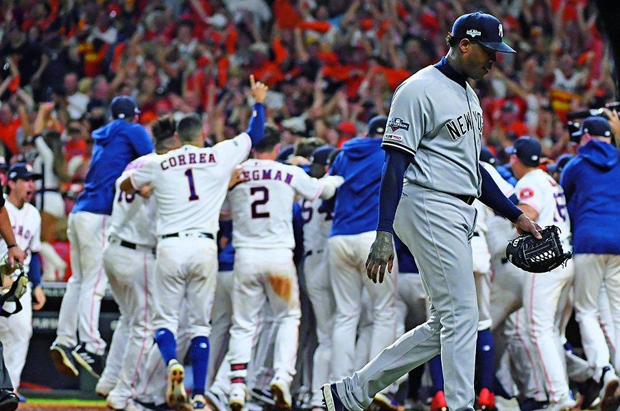 今季103勝もWSには届かず。ヤンキースに足りなかった守備力。<Number Web> photograph by Getty Images