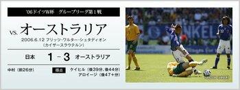 '06ドイツW杯 グループリーグ第1戦 vs.オーストラリア<Number Web>