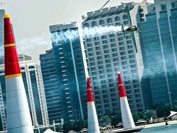 『レッドブル・エアレース』が復活!ニッポンのエース・室屋義秀の挑戦。<Number Web> photograph by Sebastian Marko, Jorg Mitter, Predrag Vuckovic/ Red Bull Content Pool