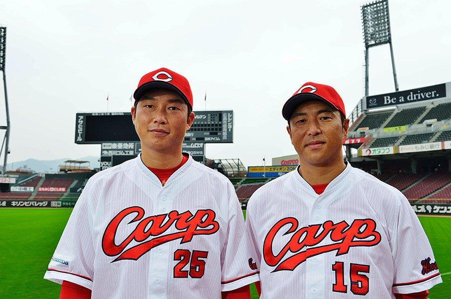広島から去り、戻ってきた2人の男。黒田博樹と新井貴浩、涙の秘密。<Number Web> photograph by Kenji Miura