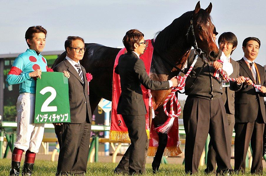 出遅れて、早めに先頭に立って完勝。東京新聞杯でマイル戦線に新星登場。<Number Web> photograph by Satoshi Hiramatsu