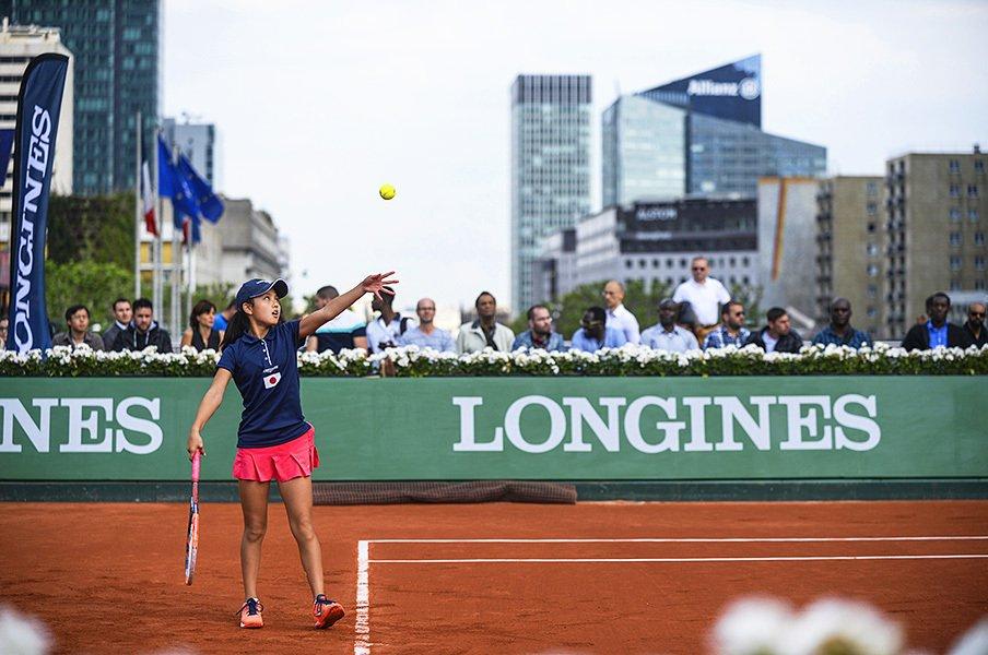 ロンジンが見通したテニスの未来――。フューチャーテニスエース大会詳報。~加藤智子が準決勝まで進む快挙!~<Number Web> photograph by LONGINES