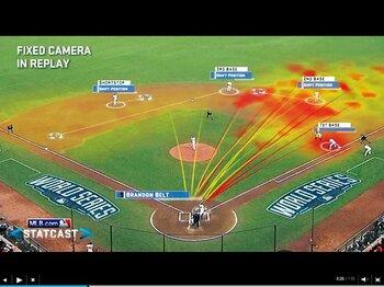 瞬時に解析データを表示。スタットキャストとは何か。~MLBで進むハイテク化への賛否~<Number Web> photograph by MLB.com
