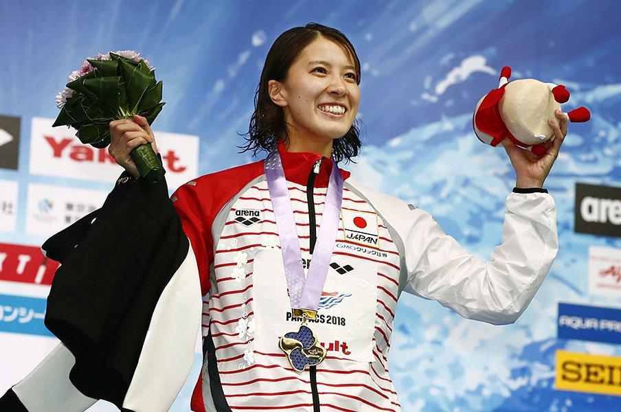 女子水泳界では異例の「遅咲き」。大橋悠依が史上初のメドレー2冠。<Number Web> photograph by Kyodo News