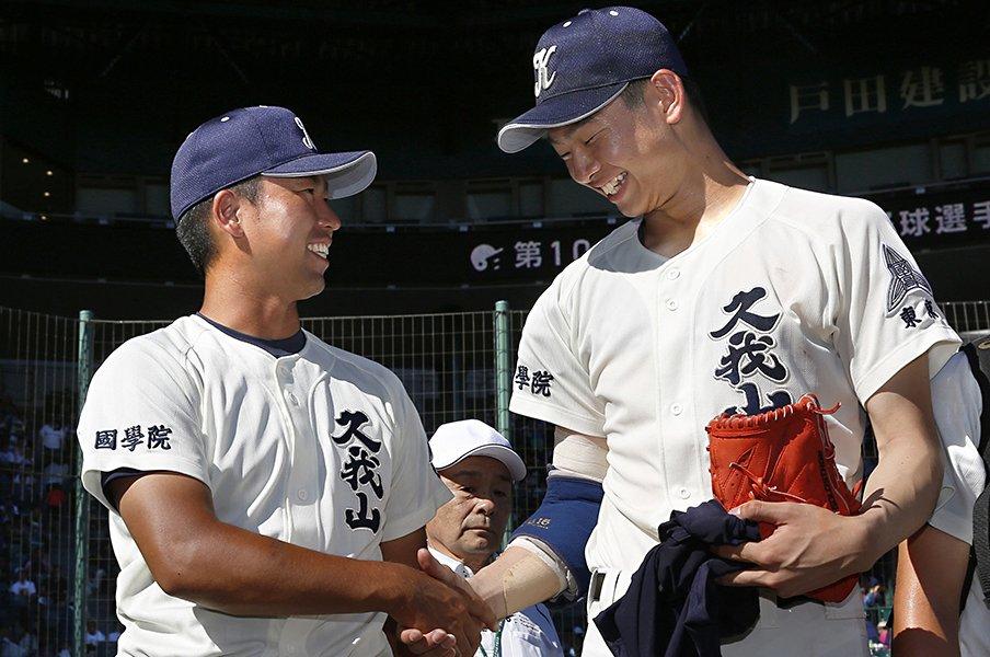 「考える野球」で甲子園初勝利。国学院久我山の強さは日常にある。<Number Web> photograph by Kyodo News