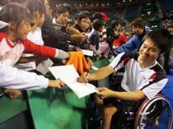 車いすテニスの王者、国枝慎吾の偉業。<Number Web> photograph by Hiromasa Mano