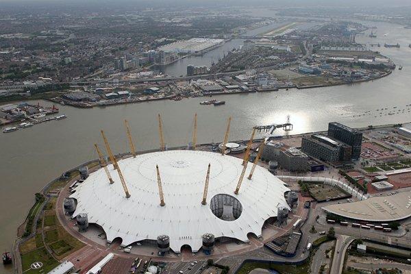 <ロンドン五輪2012> 独特の外観が目を引くノースグリニッジ・アリーナ