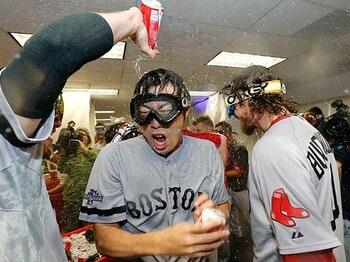 Rソックス、リーグ優勝決定戦へ!鍵は「ボス・上原」と「出塁率」。<Number Web> photograph by AP/AFLO