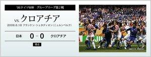 '06ドイツW杯 グループリーグ第2戦 vs.クロアチア