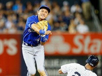 4度の昇格、そして4度目のマイナー。川崎宗則は「味方の士気を高める男」。<Number Web> photograph by Getty Images