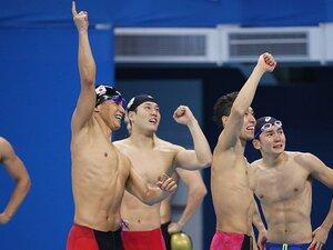 """競泳界の""""鬼門""""自由形リレーで銅。32歳松田が託した東京での金メダル。"""