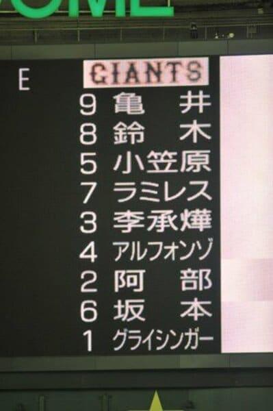 セ・リーグ開幕戦 巨人VS.広島 (4/3)
