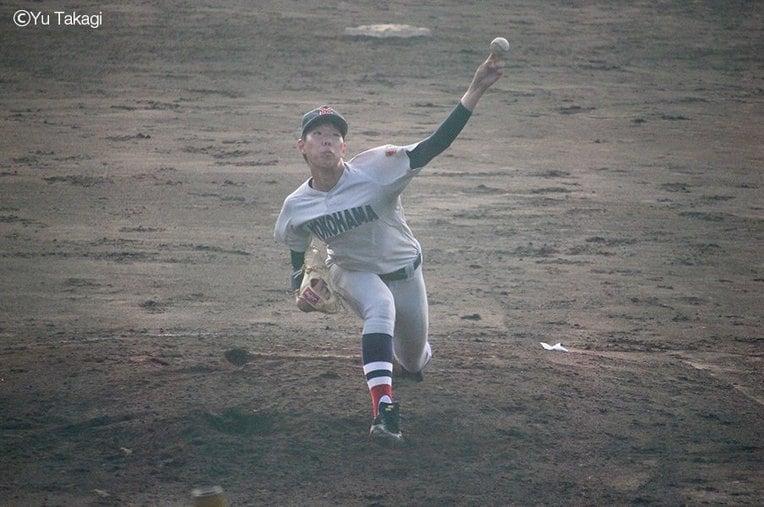 横浜高校3年松本隆之介 / photograph by Yu Takagi