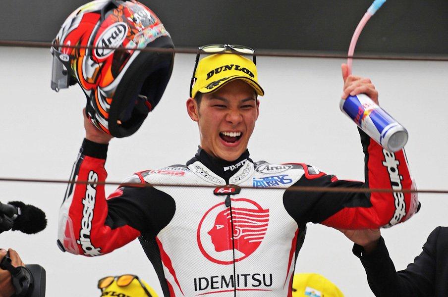 2年ぶりに表彰台獲得の中上貴晶。さらなる活躍を期待しての辛口提言。<Number Web> photograph by Satoshi Endo