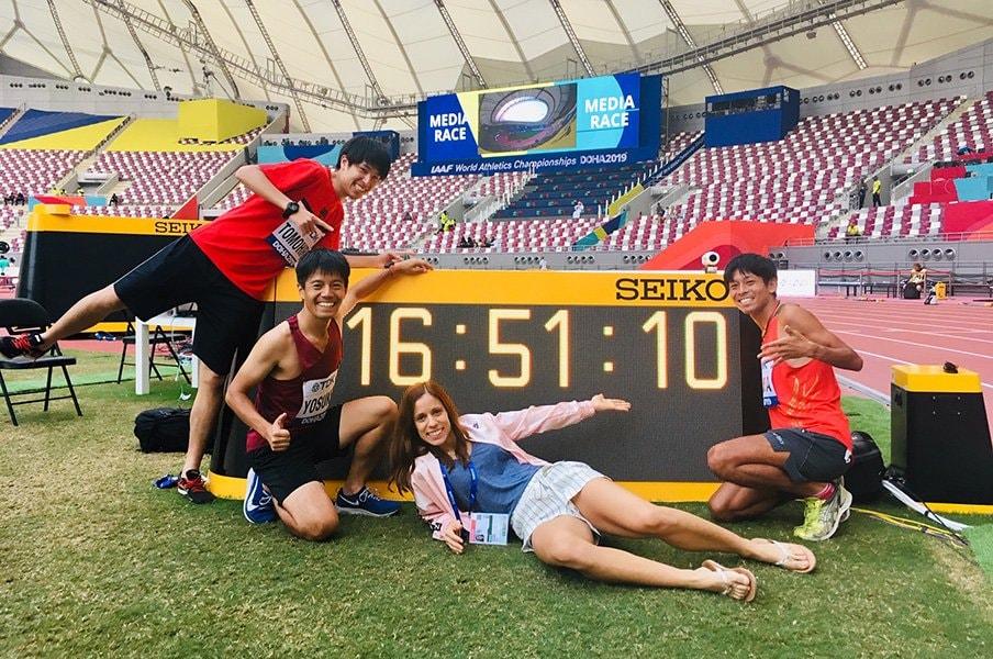 世界陸上のメディアレースが面白い。人生を反省し、選手を尊敬する800m。<Number Web> photograph by Ayako Oikawa