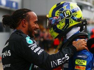 運命を分けた雨…「たった1周ですべてが一変」して初勝利を逃すも、ノリスが見せた駆け引き不要の速さ<王者ハミルトンも賞賛>