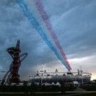 3色の飛行機雲。~ロンドン五輪2012~