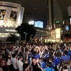 サポーターで埋め尽くされた渋谷駅前交差点