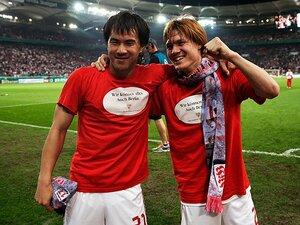 ドイツ杯決勝バイエルン戦を前に――。岡崎と酒井が振り返る葛藤の1年。