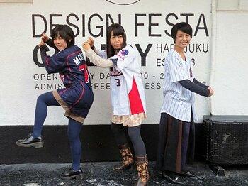 野球芸術界に殴り込み!女子大生ユニットの大いなる野望。<Number Web> photograph by Hidenobu Murase