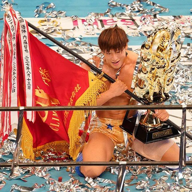 飯伏幸太が史上3人目のG1クライマックス連覇! 「ボロボロ」の体で宣言「IWGPを取って『神』に」