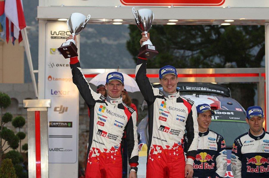ベテランの円熟味、ラトバラが2位。WRC復帰戦で見せたトヨタの底力。<Number Web> photograph by Keisuke Koga