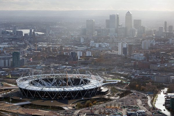 <ロンドン五輪2012> オリンピックスタジアムとロンドン中心街