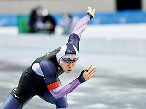 身長183cm体重89kg、堂々たる体格のスピードスケート日本記録保持者 「五輪は金メダルしか狙っていない」
