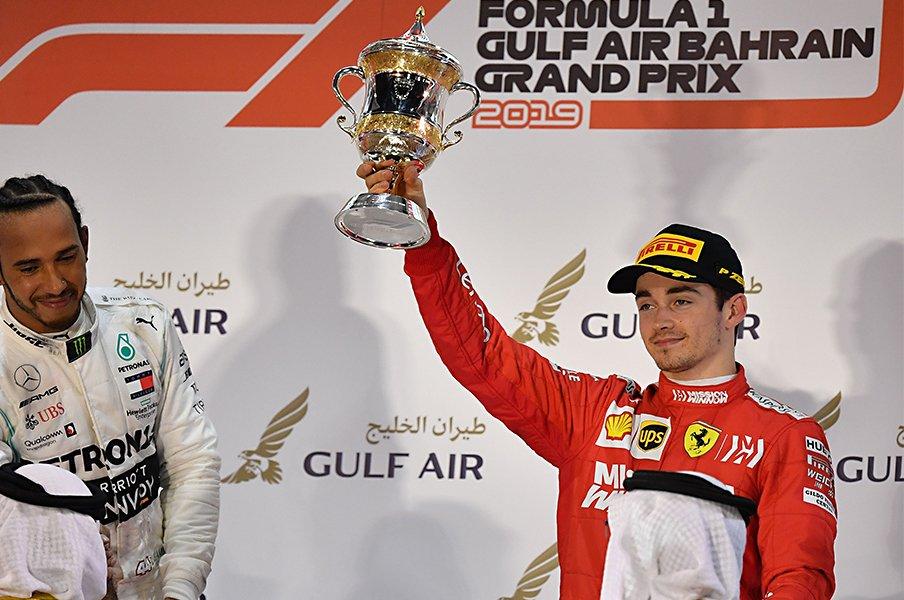 スター誕生! フェラーリの21歳。ルクレールがF1王者2人を圧倒。<Number Web> photograph by AFLO