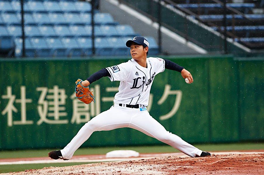 西武期待のルーキー左腕・浜屋将太。社会人野球で磨いた礼儀と武器。<Number Web> photograph by Kyodo News