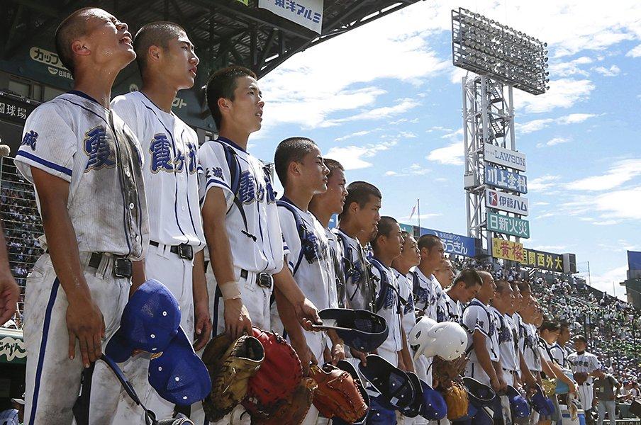 1度も打席に立てず交代した1年生。霞ヶ浦・宮崎莉汰の成長を祈る。<Number Web> photograph by Kyodo News