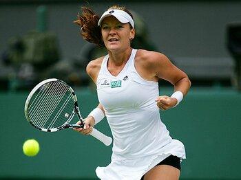 頭脳と技巧で主役を食う、ラドワンスカに注目せよ。~女王を欠くテニス界の名脇役~<Number Web> photograph by Hiromasa Mano