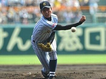 サイドスローらしくない投球術!?決勝戦で試される一二三慎太の真価。<Number Web> photograph by Hideki Sugiyama