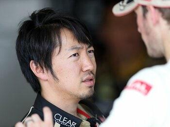 """グロージャンに「勝たなくてもいい」と。F1エンジニア小松礼雄の""""親心""""。<Number Web> photograph by Mamoru Atsuta"""