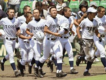 東邦の「打」はなぜ輝かなかったのか。日本文理戦の前に充満した「弱気」。 <Number Web> photograph by Kyodo News