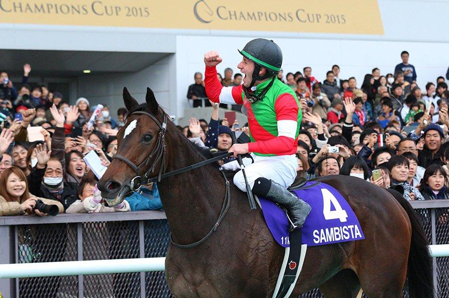 外国人騎手を買えば当たる、のか?砂の王者はサンビスタとデムーロ。<Number Web> photograph by Yuji Takahashi