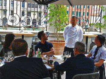 中田英寿がヴェネチアで楽しんだ、日本酒とイタリア料理のマリアージュ。<Number Web> photograph by Kosuke Kawakami
