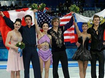 北米チームがアイスダンス金銀制覇。勝利の理由は「ロシアのコーチ」。<Number Web> photograph by AP/AFLO