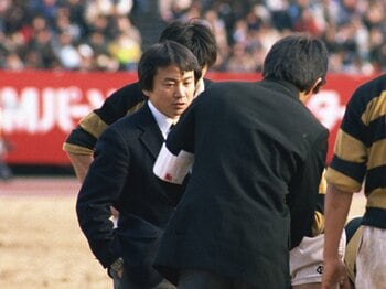常にラグビー界の先頭を走っていた。上田昭夫さんの表情が忘れられない。<Number Web> photograph by AFLO