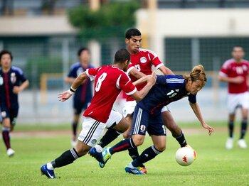 2011年4月に五輪代表合宿に呼ばれて以来のプレーとなった宇佐美貴史。オランダ、エジプトと2試合に出場して1アシスト2得点と大活躍した宇佐美だが、「得点以外は全く良くなかった。その悔しさが大きい」とコメントした。