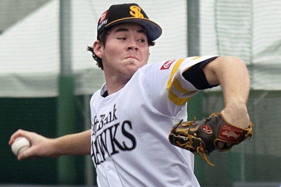 ソフトバンクの超逸材はどうしてる?スチュワートが三軍で勉強中のこと。<Number Web> photograph by Kyodo News