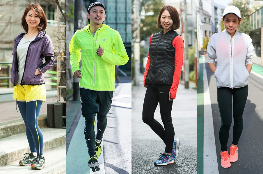やっぱり走っている人はカッコいい!街で、公園で、皇居で。お洒落ランナーをスナップ!~やっぱり映えるネオンカラー編~<Number Web> photograph by Wataru Sato
