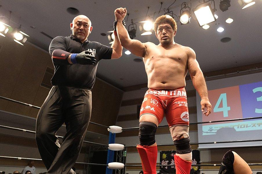 """柔術家・関根""""シュレック""""秀樹、プロレスデビューでUWFの夢実現。<Number Web> photograph by Norihiro Hashimoto"""