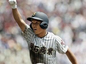 明石商・田渕翔は笑って夏を終えた。「僕が泣いても仕方ないんで」